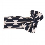 AZTEC NAVY - KNOTTED HEADBAND by Sweedie Kids